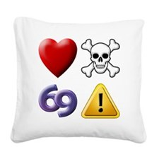 Love Hate Sex Pain Square Canvas Pillow