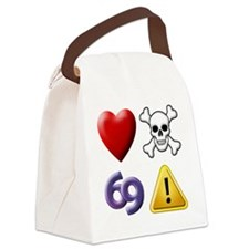 Love Hate Sex Pain Canvas Lunch Bag
