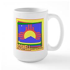 Roswell NM Flag Art Mug