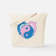 Dolphins Yin Yang Blue/Pink Tote Bag