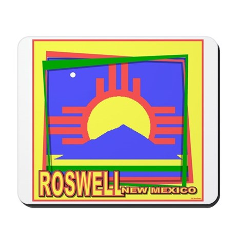 Roswell NM Flag Art Mousepad