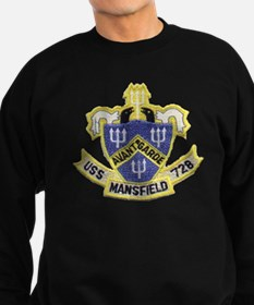 uss mansfield patch transparent Sweatshirt