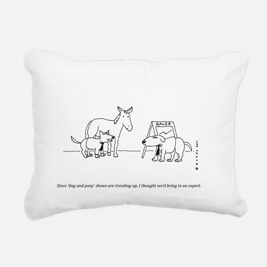 DOG  PONY SHOW Rectangular Canvas Pillow