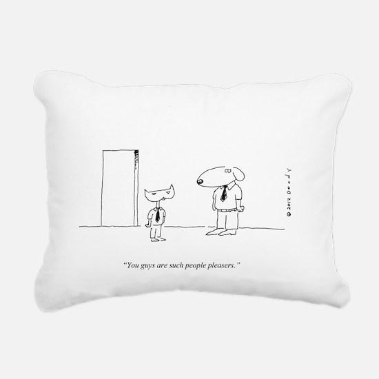 PEOPLE PLEASING DOGS Rectangular Canvas Pillow