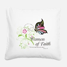 WOF Butterfly Square Canvas Pillow
