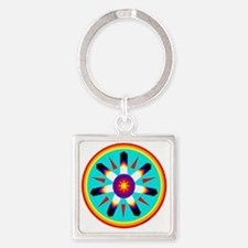 EAGLE FEATHER MEDALLION Square Keychain