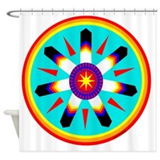 EAGLE FEATHER MEDALLION Shower Curtain