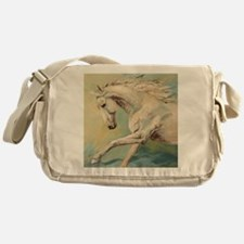Free Style painting by Janet Ferraro Messenger Bag