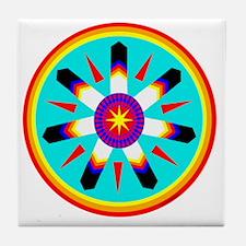 EAGLE FEATHER MEDALLION Tile Coaster