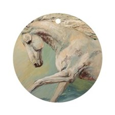 Free Style painting by Janet Ferrar Round Ornament
