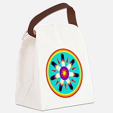 EAGLE FEATHER MEDALLION Canvas Lunch Bag