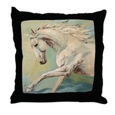 Free Style painting by Janet Ferraro Throw Pillow