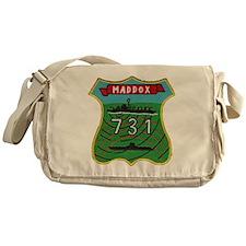 uss maddox patch transparent Messenger Bag