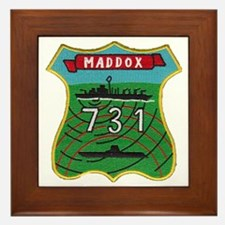 uss maddox patch transparent Framed Tile