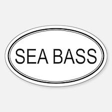 Oval Design: SEA BASS Oval Decal