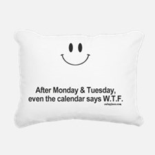 calendar says wtf Rectangular Canvas Pillow