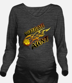 Softball Aunt (flame Long Sleeve Maternity T-Shirt