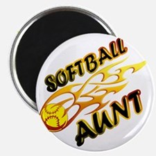 Softball Aunt (flame) Magnet