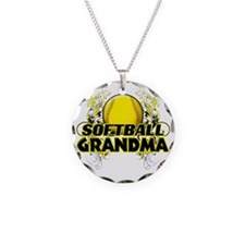 Softball Grandma (cross) Necklace Circle Charm