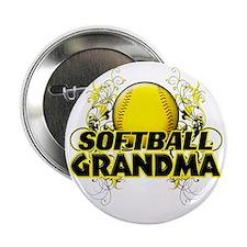 "Softball Grandma (cross) 2.25"" Button"