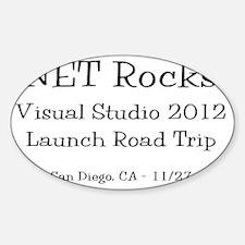 San Diego Road Trip Mug Sticker (Oval)