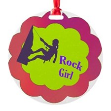 Rock Girl rock climber design Ornament