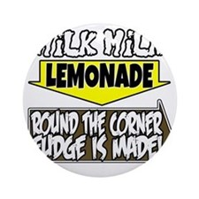 Milk Milk Lemonade Round the Corner Round Ornament