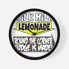 Milk Milk Lemonade Round the Corner Fud Wall Clock