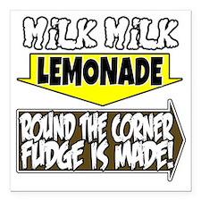 """Milk Milk Lemonade Round Square Car Magnet 3"""" x 3"""""""
