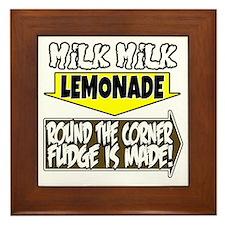 Milk Milk Lemonade Round the Corner Fu Framed Tile