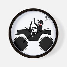 Jeep Dude Stickman 1 Wall Clock