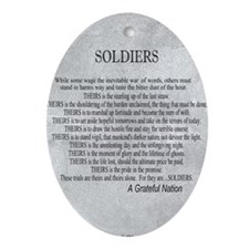 Soldiers Oval Ornament