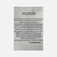 Soldiers Rectangle Magnet