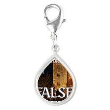 False Step Silver Teardrop Charm