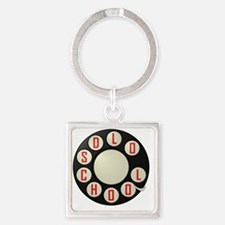 Old School Square Keychain
