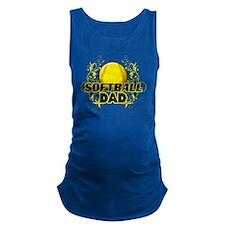 Softball Dads (cross) Maternity Tank Top
