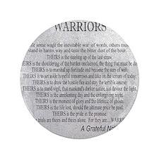 """Warriors 3.5"""" Button"""