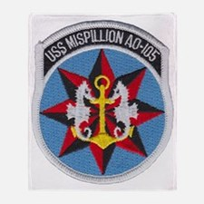 uss mispillion patch transparent Throw Blanket
