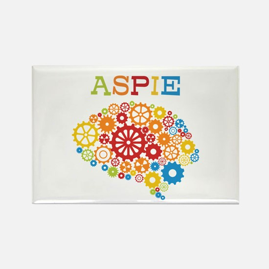 Aspie Brain Autism Rectangle Magnet