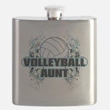 Volleyball Aunt (cross) Flask