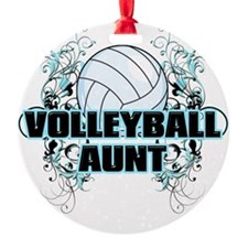Volleyball Aunt (cross) Ornament