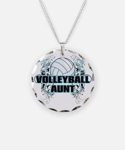Volleyball Aunt (cross) Necklace