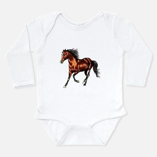 Cantering Bay Horse Infant Bodysuit Body Suit