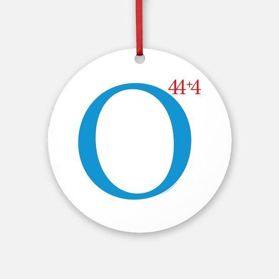 O44+4 Re-Elect Obama Mylar Balloon Round Ornament