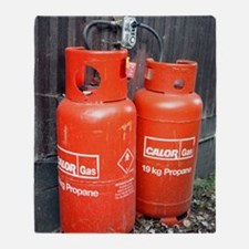 Liquefied propane gas cylinders Throw Blanket