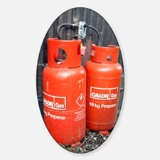 Liquefied propane gas cylinders Sticker (Oval)