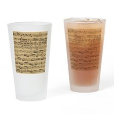 Vintage sheet music Drinking Glass