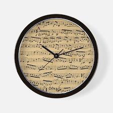 Vintage sheet music Wall Clock
