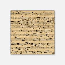 "Vintage sheet music Square Sticker 3"" x 3"""