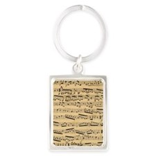 Vintage sheet music Portrait Keychain